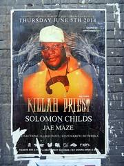 Killah Priest (knightbefore_99) Tags: show city art vancouver poster concert downtown fat gig crew hiphop rap obese killahpriest jaemaze solomonchilds