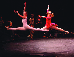 Courtney Iventosch (Lois) and Kate Levering (Cassie) in A Chorus Line, produced by Music Circus at the Wells Fargo Pavilion June 24 – 29, 2014. Photos by Charr Crail.