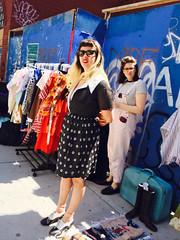 image (JuhaOnTheRoad) Tags: woman usa newyork girl brooklyn streetphotography williamsburg iphone