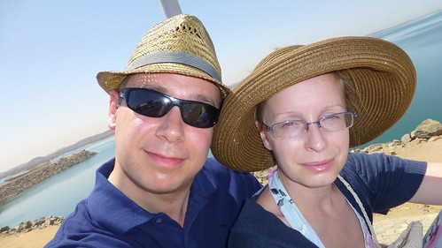 Chris & Kathrin at Aswan High Dam