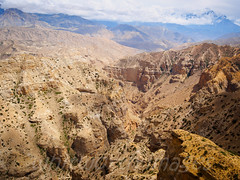 Canyon (whitworth images) Tags: nepal mountains nature beauty yellow landscape outdoors rocks asia desert stones scenic rocky nobody nopeople scene canyon cliffs hills gorge mustang himalaya hillside arid restrictedarea syanboche uppermustang bhena annapurnaconservationarea shyangbochen