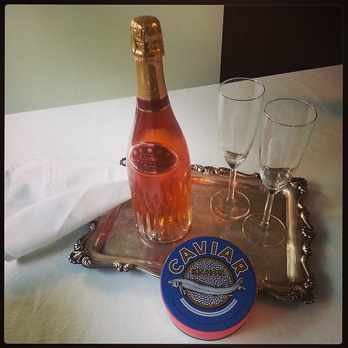 Let's get this party started! #Cartier #champagne #BelugaCaviar