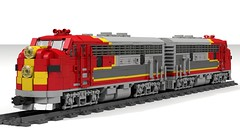 EMD F7 (Narmot) Tags: santa lego chief super locomotive fe f7 emd