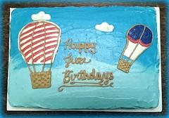Hot Air Balloon Cake by Christine, Linn Cnty, Iowa, www.birthdaycakes4free.com