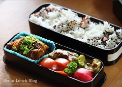 mock-chicken-avocado-bento (Token-Bento) Tags: chicken by avocado box step howto bento lunchbox tutorial mock obento für anleitung schritt
