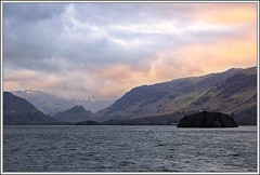 Morning Breaks. (ShinyPhotoScotland) Tags: sky sunlight lake colour art nature water weather clouds lakedistrict earlymorning places cumbria derwentwater colourful toned keswick contrasts downsouth friarscrag warmcold cloudappreciation