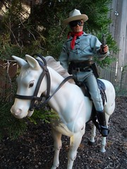 Lone Ranger with his Six Shooter (atjoe1972) Tags: horse classic gabriel vintage silver toys actionfigure 1974 tv cowboy mask retro western 70s 1970s loneranger oldwest atjoe1972