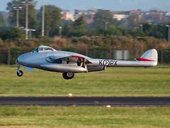 LN-DHY Vampire FB.6 (Irish251) Tags: ireland dublin de airport fighter force vampire air jet royal norwegian historical af dub squadron havilland eidw skvadron twinboom historiske kpx lndhy flyvpnets