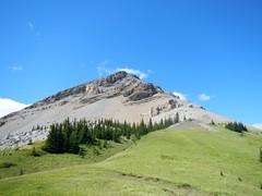 Bluerock Mountain Scramble - View from the bench 2 (benlarhome) Tags: mountain canada trekking trek kananaskis rockies hiking hike alberta rockymountain scramble bluerockmountain