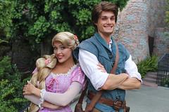 Rapunzel and Flynn (jodykatin) Tags: disneyland rapunzel tangled facecharacter flynnrider