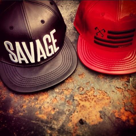 Kanati Co. Leather Savage & America Strapback Caps