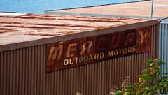mercury (keith midson) Tags: old rust mercury rusty motors tasmania hobart outboard batterypoint