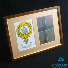 Clan Crest and Tartan Framed