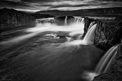 Godafoss (Arnold van Wijk) Tags: nature landscape island blackwhite waterfall iceland zwartwit natuur foss landschap isl waterval ijsland fosshlli