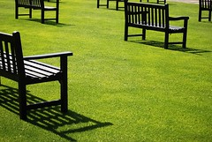 Shadows (hyperionone) Tags: york light black green grass racetrack shadows seats horseracing paddock beforetheraces