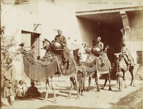 1880 groupe de mendiants égyptiens