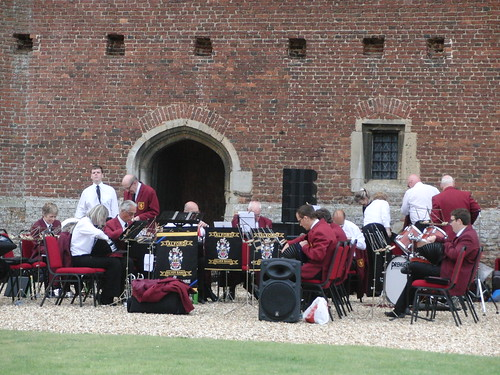 Tattershall Castle - ASB setting up before the concert.