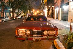 1974 Ford Taunus (Curtis Gregory Perry) Tags: street longexposure red ford argentina night 1974 buenosaires nikon 1975 taunus coupe             d800e