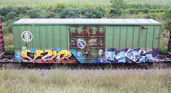 Sezur/Pest (quiet-silence) Tags: railroad art train graffiti post railcar boxcar graff freight aub kof fr8 ibt sezur ibt19180