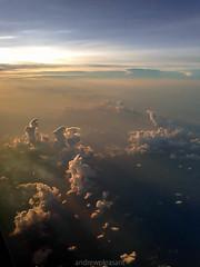 7 (AGP318) Tags: sunset sky sun sunlight gulfofmexico clouds airplane jet sunray