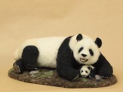 羊毛フェルトパンダ (K A J I) Tags: animal panda needlefelting 動物 パンダ 羊毛フェルト