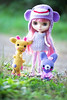 ♥ a walk with friends (sugarelf) Tags: friends crochet giraffe amigurumi monkeyhat ballerinabunny snowflakesonata