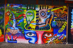 Street Art, Baos de Agua Santa, Ecuador (ARNAUD_Z_VOYAGE) Tags: santa street city bridge people food white house black building green art cars church colors beautiful del america river de landscape arbol casa ecuador amazing agua amazon place market south center tourist basin eastern banos moutains province baos tungurahua wondeful pastaza