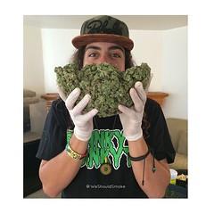 My brotha @ozwaldo10 showing off a nice #weedbeard @weshouldsmoke #weshouldsmoke (weedstache) Tags: weed jane mj mary 420 medical pot oil wax cannabis 710 dank dabs prop215 weedstache