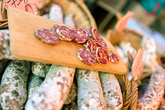 Saucisson du March (Alex Stoen) Tags: travel food france canon geotagged google flickr market bokeh streetphotography mercado provence smugmug saucisson facebook vaucluse shallowdof creativefocus 500px 1dx creativecomposition ef1635f28liiusm alexstoen alexstoenphotography canoneos1dx marchdevaisonlaromaine