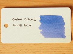 Caran d'Ache Blue Sky - Word Card