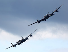Lancaster (Bernie Condon) Tags: 2 canada plane vintage display britain aircraft military formation airshow lancaster preserved bomber raf dunsfold avro rcaf bbmf bombercommand chwm waplane