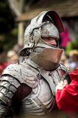 Suiting Up (James Billson) Tags: minnesota canon steel helmet battle medieval suit knight faire combat joust armour squire renaissance reenactment 2014 armoured shakopee 60d ef70210mmf4