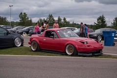 That Red NA Miata. (scrawfordphoto) Tags: miata clubroadster stancenation iamthespeedhunter offsetkings fdcanada
