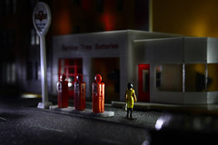 HEAVEN KNOWS,  2014 (Idlevalley) Tags: helsinki finland garage night shopping yellow woman evening ho model
