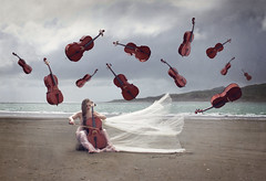 Muse (lifecapturedbyneen) Tags: music beach coast longhair muse cello raglan float fineartphotography whimsicalart conceptualphotography fairytalephotography