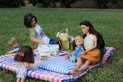 Unexpected Picnic Partner (rata-tat-tat) Tags: dolldiorama barbiediorama barbiepivotal