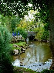 The bridge across the River Harbourne at Bow (Jayembee69) Tags: bridge england creek river devon bow tidal muddy harbourne