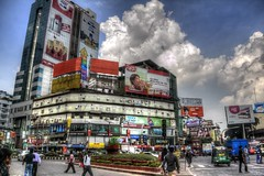 Dhaka city center (helterskelter.711) Tags: street city beautiful clouds canon buildings workers asia shot cloudy capital peak center busy rush hour dhaka roads bangladesh bustle hdr gol hustle observer rushing hectic gulshan chakar 60d chokkor