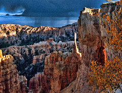 Bryce at sunset (velton) Tags: park sunset usa storm america canon lumix utah 300d sundown canyon panasonic national canyonlands bryce fz18 fz200