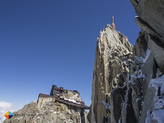 The Aiguille du Midi Station (HendrikMorkel) Tags: mountains alps mountaineering chamonix alpineclimbing artedescosmiques arcteryxalpineacademy2015