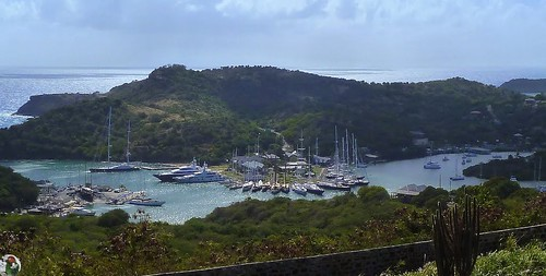 Antigua - View from Fort Hill Dow - Deep Bay - Nelson's Dockyard