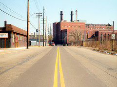 kodakektar120-203 (elsuperbob) Tags: detroit michigan delray southwestdetroit powerplant abandoned emptystreets forgotten newtopographics mamiyam645 kodak ektar100 kodakektar