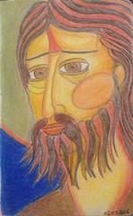 02/07/2016 (milisara) Tags: sketchbook portrait dessin drawing illustration icone pencilcolor