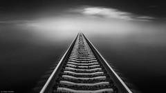 Train to heaven (Zoltan Schadel photography) Tags: black heaven train railway art clouds seascapes contrast sea ocean white balckandwhite blackandwhite zoltanschadel canon6d 1740mm skancheli
