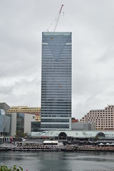 New high rise building behind Shopping and commercial area Ultimo Pyrmont beside Darling Harbour - Autumn in the rain 2017 (nicephotog) Tags: bay water dock harbourside shopping centre ultimo pyrmont sydney nsw darling harbour high rise apartment block building skyscraper