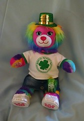 Happy St. Patrick's Day (kimsworldofart) Tags: rainbow lion plush plushie stpatricksday potofgold buildabearworkshop