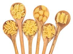 Pasta (orobicapesca) Tags: wood food white wooden italian background olive spoon pasta type variety dried spaghetti macaroni staple spoonful conchiglie fusilli farfalle farfalline unitedkingdomofgreatbritainandnorthernireland messicani