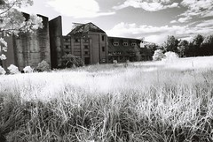 Maltings (goodfella2459) Tags: white black abandoned film analog 35mm nikon factory filter infrared 24mm agfa f4 hoya 400s maltings r72 28d