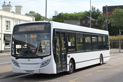 Trustybus  / Logic Transport . Essex . YX08HCC . Bishops Stortford Bus Interchange . Friday 13th-June-2014 . (AndrewHA's) Tags: white bus transport 200 alexander dennis essex e200 dart hertfordshire enviro logic bishopsstortford webberbus trustybus yx08hcc