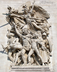 Statue on the outside of the Arc de Triomphe (eutouring) Tags: travel sculpture paris france statue stone penis arc triomphe statues arcdetriomphe sculptures
